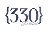 Akron  Ohio - 330 Area Code (Blue)