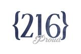 Cleveland  Ohio - 216 Area Code (Blue)