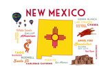 New Mexico - Typography and Icons