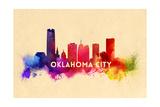 Oklahoma City  Oklahoma - Skyline Abstract