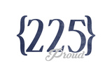 Baton Rouge  Louisiana - 225 Area Code (Blue)