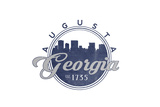 Augusta  Georgia - Skyline Seal (Blue)
