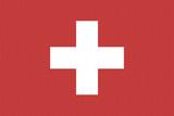 Switzerland Country Flag - Letterpress