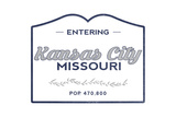 Kansas City  Missouri - Now Entering (Blue)