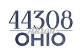 Akron  Ohio - 44308 Zip Code (Blue)