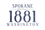 Spokane  Washington - Established Date (Blue)