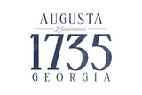 Augusta  Georgia - Established Date (Blue)