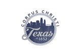 Corpus Christi  Texas - Skyline Seal (Blue)