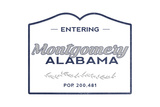 Montgomery  Alabama - Now Entering (Blue)