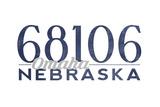 Omaha  Nebraska - 68106 Zip Code (Blue)