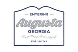 Augusta  Georgia - Now Entering (Blue)