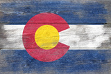 Colorado State Flag - Barnwood Painting (Image Only)
