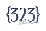 Pasadena  California - 323 Area Code (Blue)