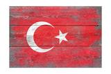 Turkey Country Flag - Barnwood Painting