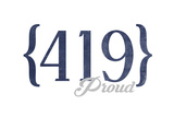 Toledo  Ohio - 419 Area Code (Blue)