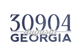 Augusta  Georgia - 30904 Zip Code (Blue)