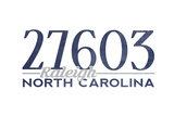 Raleigh  North Carolina - 27603 Zip Code (Blue)