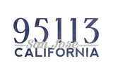 San Jose  California - 95113 Zip Code (Blue)