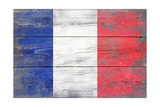 France Country Flag - Barnwood Painting