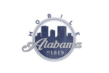 Mobile  Alabama - Skyline Seal (Blue)