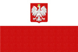 Poland Country Flag - Letterpress