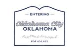 Oklahoma City  Oklahoma - Now Entering (Blue)