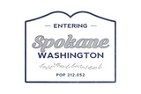 Spokane  Washington - Now Entering (Blue)