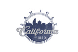 San Jose  California - Skyline Seal (Blue)