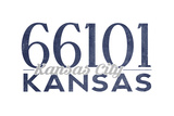 Kansas City  Kansas - 66101 Zip Code (Blue)