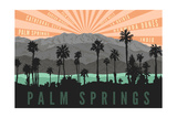 Palm Springs  California - Palm Trees and Mountains