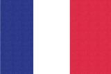 France Country Flag - Letterpress