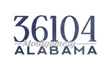 Montgomery  Alabama - 36104 Zip Code (Blue)