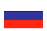 Russia Country Flag - Letterpress