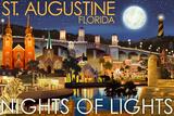 St Augustine  Florida - Nights of Lights - Night Scene
