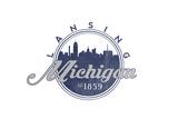 Lansing  Michigan - Skyline Seal (Blue)