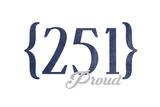 Mobile  Alabama - 251 Area Code (Blue)