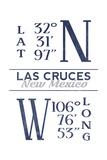 Las Cruces  New Mexico - Latitude and Longitude (Blue)