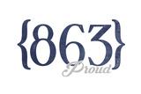 Lakeland  Florida - 863 Area Code (Blue)