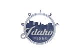 Boise  Idaho - Skyline Seal (Blue)