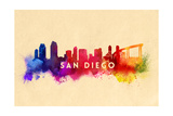 San Diego  California - Skyline Abstract