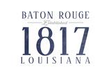 Baton Rouge  Louisiana - Established Date (Blue)