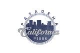 Pasadena  California - Skyline Seal (Blue)