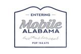 Mobile  Alabama - Now Entering (Blue)