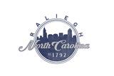 Raleigh  North Carolina - Skyline Seal (Blue)