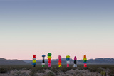 Ugo Rondinone: Seven Magic Mountains  Las Vegas Nevada  2016 (Official Authorized Print)