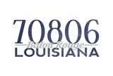 Baton Rouge  Louisiana - 70806 Zip Code (Blue)