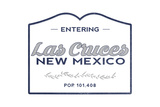 Las Cruces  New Mexico - Now Entering (Blue)