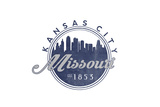 Kansas City  Missouri - Skyline Seal (Blue)