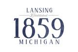 Lansing  Michigan - Established Date (Blue)