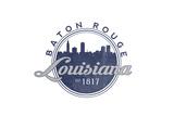 Baton Rouge  Louisiana - Skyline Seal (Blue)